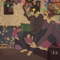 fairy lights. by PheeOwhNah