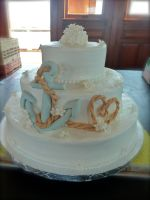 anchor wedding cake by pinkshoegirl