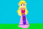 Princess Zelda Lineart Coloring by Petpettails123