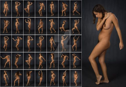 Stock: Mona Art Nude Standing Poses - 35 Images by stockphotosource