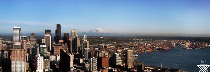 Seattle Pano by Fenlain