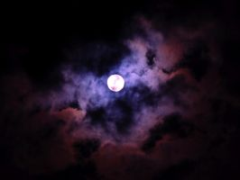 Moon with clouds by stock1-2-3