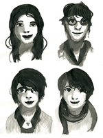 5 minute Ink Faces by Gabbybites