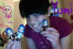 Me with my 3 Yumi dolls by ShatteredPrismRose23