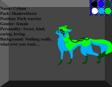 Wolf adopt - Cylean by RunnerInTheDay