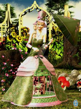 In The Garden by OldFashionedWoman