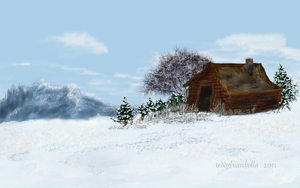 Mountain cabin by teddybearcholla