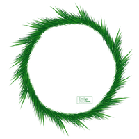 Christmas - Pine Branch - Circle Frame by Hermit-stock