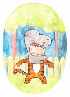 Costume a Day 13 - Hippo-tiger by ILoveBlueMoreThanYou