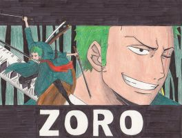 Zoro after two years by HarukaNicoRobin