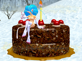 Felicia and her Christmas Cake by NekoHybrid