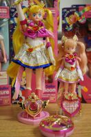 Super Sailormoon and Super Chibimoon 1995 by JoshTechSoldier84