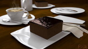 chocolate cake by 3DFreak3D