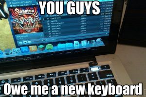 Sabaton Broke My Keyboard by TheIronDragonBrigade