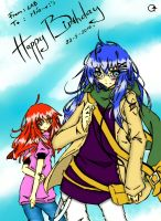 Mia's Present Colored by geciety
