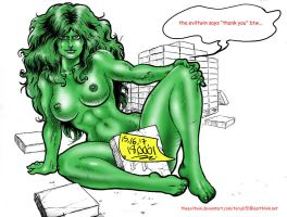 She-Hulk Block Party by theEvilTwin