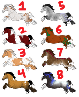 Free Adoptables - Horses 15 by carlmoon