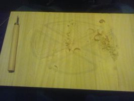 wood carve step two by cearabhall