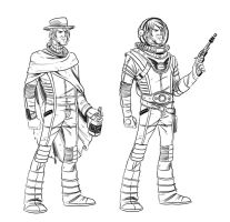 Action Johnson Character Design by gadgetwk