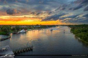 Sunset-Along-the-Juno-Beach-Waterway-Waterfront-Pr by CaptainKimo