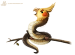 Daily Paint #991. Cockatrice (OA) by Cryptid-Creations