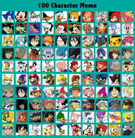 100 Characters Meme by JDE10
