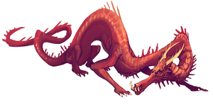 Red wyrm by Dimenran