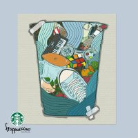Starbucks Cup I LOVE SUMMER by Raskha