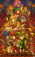 Triforce Heroes by tellielz