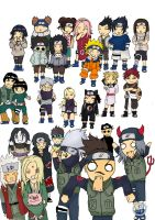 naruto chibis by Latristessedurera