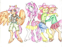 Cutie Mark Crusaders: Anthro by Coraline-176