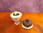 Layered blueberry trifle and cake by Nassae