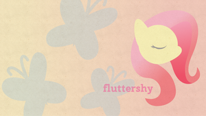 Fluttershy Paper Dreams Wallpaper by Bunnygirl2190