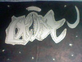 art project one: tatto name design by GothicTaco198