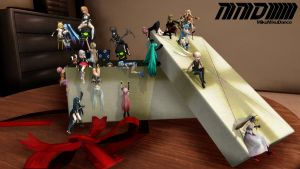 MMD Present Box (box and wallpaper) by aittel