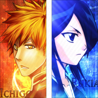 Ichigo and Rukia Signature by Ichgovastolorde