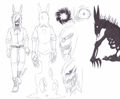 Modified Rabbit Character Reference Sheet by Modified-Rabbit
