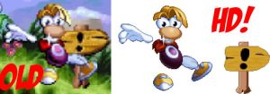 Experimenting with HD Rayman sprites by MarkProductions