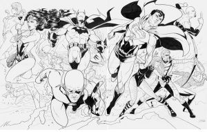 Justice League Inks by martheus