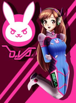 .: D.Va Anime Verison :. by Sincity2100
