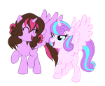 Gwen Reilly and Flurry Heart by edCOM02