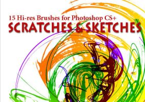 15 Grunge Brushes: Scratches by fiftyfivepixels