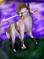 The Knight Of The Field (commission) by graystorm1234