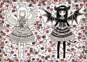 Angel+Devil: Always my sister by SilverChaim