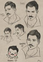 [facial expressions] Dorian by slugette