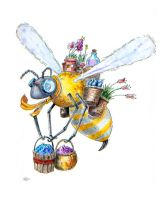 Working Class Bug: Busy Bee by Jcoon