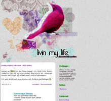 Blog design for a friend by CatBeluxe