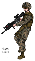 USMC Rifleman by NDTwoFives