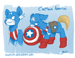 Avengers/MLP Crossover - Captain America by caycowa