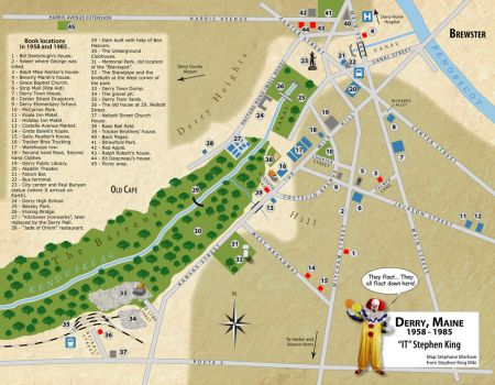 Derry Map in  English by Morhain-Stef